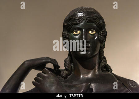 Dancer from Villa Dei Papyri, National Archaeological Museum, Naples, Italy - Stock Photo