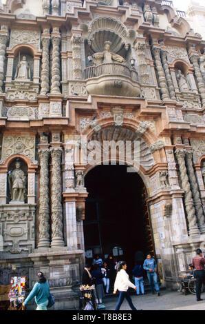 Basilica and Convent of Nuestra Senora de La Merced,Lima,Peru - Stock Photo