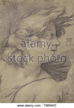 Hendrick Goltzius (Dutch, 1558 - 1617)-Bust of an Angel - Stock Photo