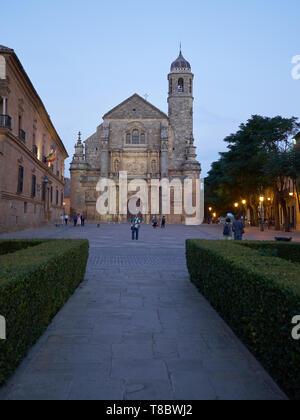 Church of El Salvador - Unesco World Heritage -. Úbeda, Jaén, Andalusia, Spain. - Stock Photo