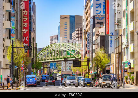 9 April 2019: Tokyo, Japam - Akihabara District, otherwise known as Electric City, well known for computers, video games and electronic equipment, tra - Stock Photo