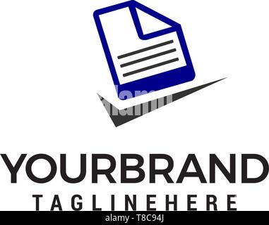 file Document check mark logo design concept template vector - Stock Photo
