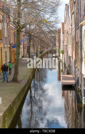 Alkmaar, the Netherlands - April 12, 2019: The old city centre of Alkmaar in North-Holland in the Netherlands. Also known as the city of cheese. - Stock Photo