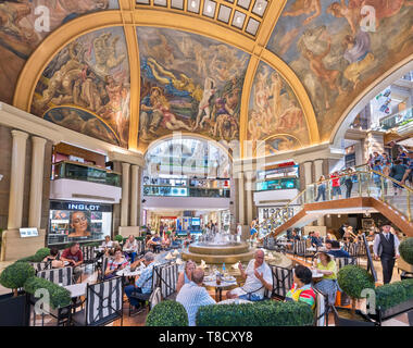 Buenos Aires Galerias Pacifico. Cafe inside the Galerías Pacífico, a popular shopping centre in the city centre, Buenos Aires, Argentina - Stock Photo