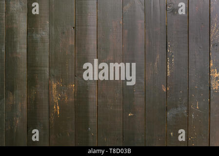 Wooden wall Brown boards. Brown wood texture. Abstract background for design. Vertical boards. Vintage retro - Stock Photo