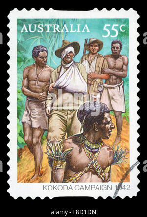 AUSTRALIA - CIRCA 2010: A stamp printed in Australia shows Kokoda Campaign, circa 2010. - Stock Photo