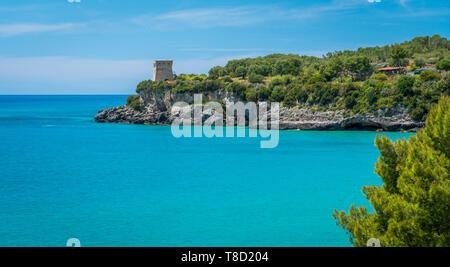 Amazing mediterranean beach at Marina di Camerota, Cilento, Campania, southern Italy. - Stock Photo