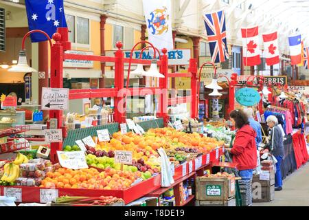 Canada, New Brunswick, St. John's County, St. John's or St. John's), the market established in a 1876 building (Second Empire style) is the oldest Canadian market for local producers - Stock Photo
