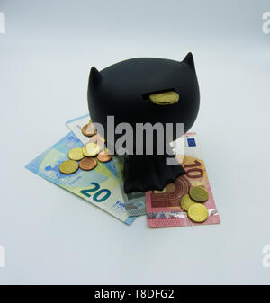 Save and protect your money, concept photo on white background - Stock Photo