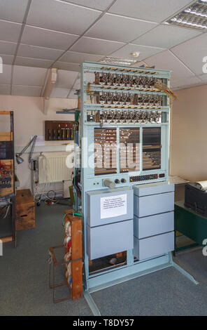Replica of the Tunny Machine at Bletchley Park, once the top-secret home of the World War Two Codebreakers, now a leading heritage attraction - Stock Photo