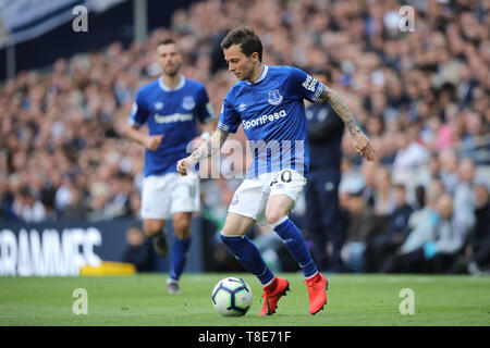 London, UK. 12th May, 2019. Bernard (E) at the Tottenham Hotspur v Everton English Premier League match, at The Tottenham Hotspur Stadium, London, UK on May 12, 2019. **Editorial use only, license required for commercial use. No use in betting, games or a single club/league/player publications** Credit: Paul Marriott/Alamy Live News - Stock Photo