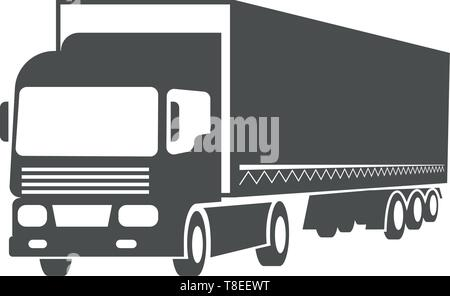 Vector truck, cargo transport, delivery symbol design. - Stock Photo