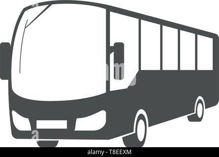 Vector city bus, public transport symbol design. - Stock Photo