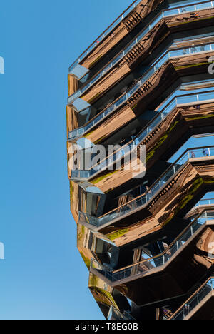 The vessel, in the center of the Hudson Yard, Chelsea, New York City, NY / USA - Stock Photo