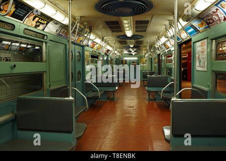 Interior view of R11/R34, New York Transit Museum - Stock Photo