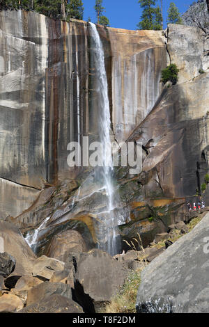 Vernal Fall from Mist Trail - Stock Photo