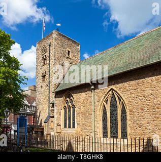 The oldest building in Oxford. St Michael at the North Gate Church built around 1000–1050. - Stock Photo
