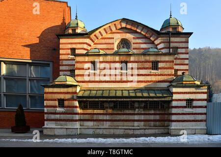 Slovakia, Trencin Region, Trencianske Teplice, thermal city, Moorish style hammam builds in 1888 - Stock Photo