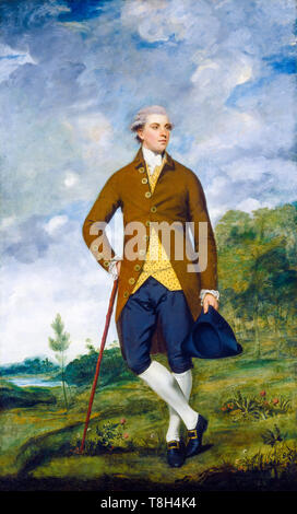 Sir Joshua Reynolds, John Musters, portrait painting, c. 1777 - Stock Photo