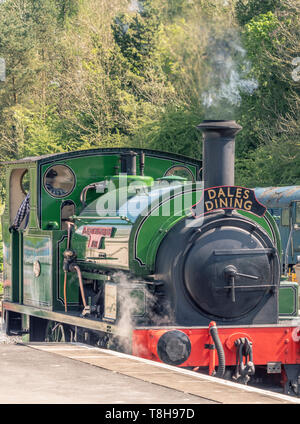 Sir Robert Alpine and Sons, Engine No. 88. Embsay and Bolton steam railway. Bolton Station, Yorkshire Dales, UK. - Stock Photo