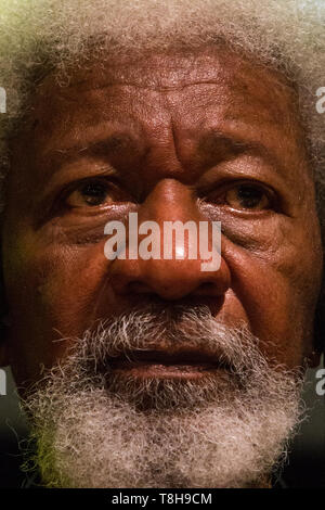Turin, Italy. 12th May, 2019. Nigerian writer and Nobel Prize winner Wole Soyinka is guest of 2019 Turin Book Fair Credit: Marco Destefanis/Pacific Press/Alamy Live News - Stock Photo