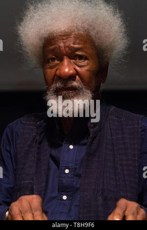 Turin, Italy. 12th May, 2019. Nigerian writer and Nobel Prize winner Wole Soyinka is guest of 2019 Turin Book Fair. Credit: Marco Destefanis/Pacific Press/Alamy Live News - Stock Photo