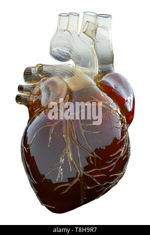 3d rendered medically accurate illustration of an artificial heart. - Stock Photo