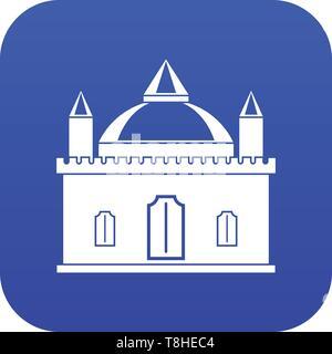 Royal castle icon digital blue - Stock Photo