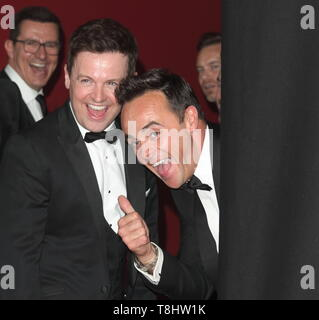 London, UK . Ant and Dec at Virgin Media BAFTA Television Awards 2019 - Press Room at The Royal Festival Hall, London on May 12th 2019 . Ref: LMK73 -J4881-130519 Keith Mayhew/Landmark Media.  . Credit: LMK MEDIA/Alamy Live News - Stock Photo