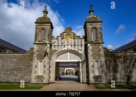 United Kingdom, Northern Ireland, Ulster, county Antrim, Antrim castle and gardens - Stock Photo