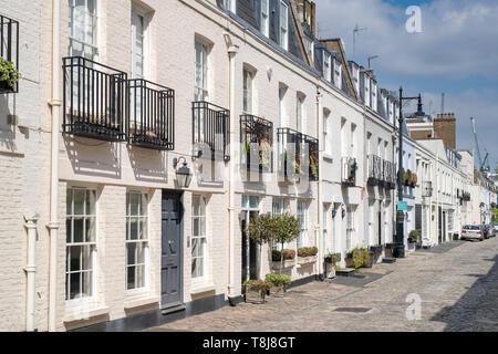 Eaton mews north, Lyall Street, Belgravia, London, England - Stock Photo