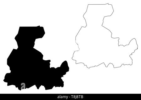 Segou Region (Regions of Mali, Republic of Mali) map vector illustration, scribble sketch Segou map - Stock Photo