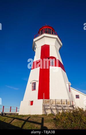 Canada, New Brunswick, Campobello Island, Head Harbour Lightstation lighthouse - Stock Photo