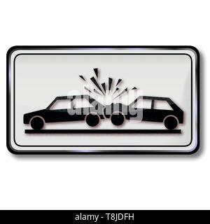 Warning of collision and car accident