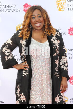 Chizzy Akudolu seen on the red carpet during the Virgin Media BAFTA Television Awards 2019 at The Royal Festival Hal in London. - Stock Photo