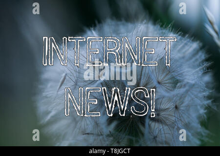Word writing text Internet News. Business photo showcasing the information about current events published online - Stock Photo