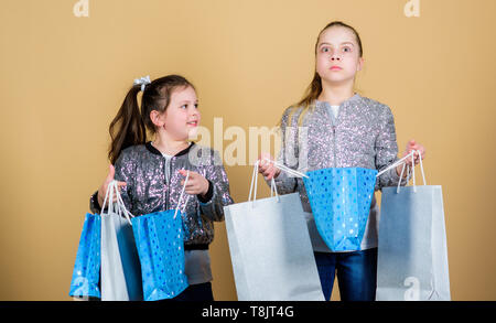 9f42cc21c3652 Shopping and purchase. Black friday. Sale and discount. Shopping day.  Children hold