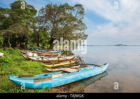 Sri Lanka, North Central Province, Polonnaruwa, Parakrama Samudra lake - Stock Photo