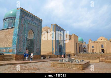 Samarkand, UNESCO Weltkulturerbe in Usbekistan: In der Totenstadt Shohizinda - Stock Photo