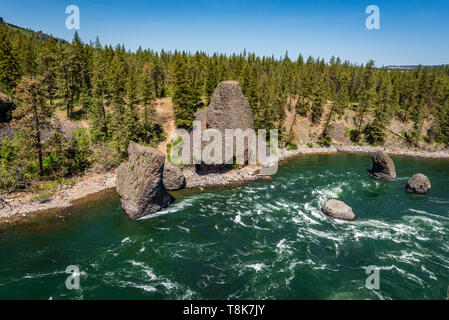 Bowl And Pitcher Area Of Riverside State Park - Stock Photo