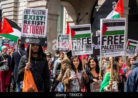 National Demonstration for Palestine, London, UK 11/05/2019 - Stock Photo