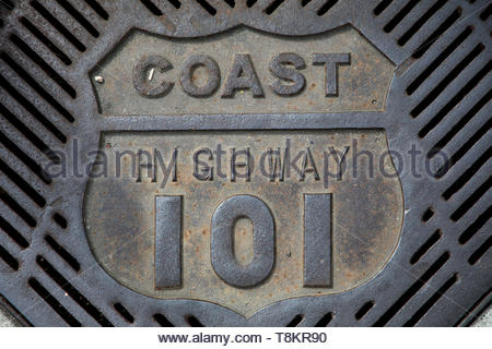 Pacific Coast Highway Route 101 - Stock Photo