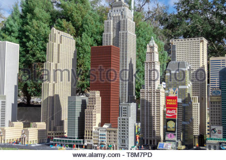 Winter Haven, Florida USA - January 22, 2019: Lego model of New York City at Miniland, Legoland Florida on January 22, 2019, in Winter Haven, FL - Stock Photo