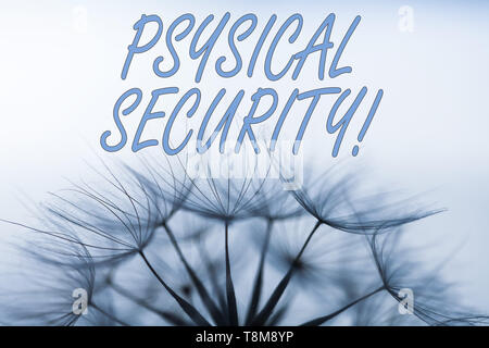 Handwriting text writing Physical Security. Conceptual photo designed to deny unauthorized access to facilities - Stock Photo