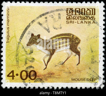 Postage stamp from Sri Lanka in the Native animals series issued in 1981 - Stock Photo