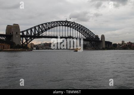 Sydney harbour bridge early morning - Stock Photo