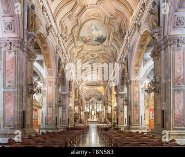 Interior of the Metropolitan Cathedral, Plaza de Armas, Santiago Centro, Santiago, Chile, South America - Stock Photo