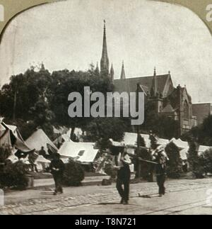Tent city in Jefferson Square, San Francisco, after April ...