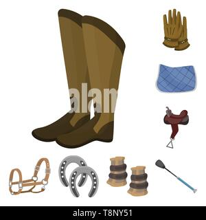 Isolated object of horseback and equestrian icon. Set of horseback and horse  stock symbol for web. - Stock Photo