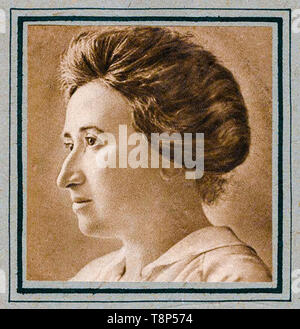Rosa Luxemburg, profile, portrait, c. 1910 - Stock Photo